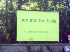 sex and the bible Plakat
